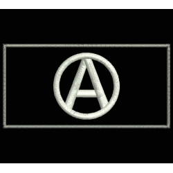 ANARCHIST FLAG Embroidered Patch