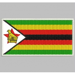 ZIMBADWE FLAG Embroidered Patch