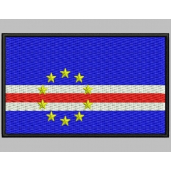 CAPE VERDE FLAG Embroidered Patch