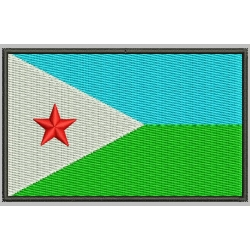 DJIBOUTI FLAG Embroidered Patch