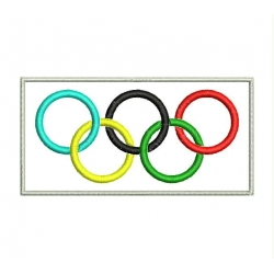 OLYMPIC FLAG Embroidered Patch