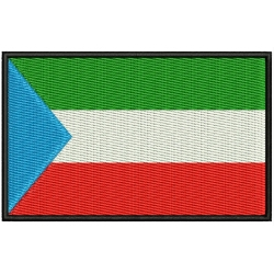 EQUATORIAL GUINEA FLAG Embroidered Patch