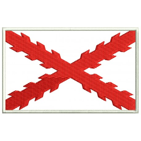BURGUNDY CROSS FLAG Embroidered Patch
