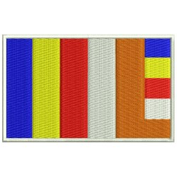 BUDDHIST FLAG Embroidered Patch