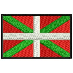 BASQUE COUNTRY FLAG Embroiderd Patch
