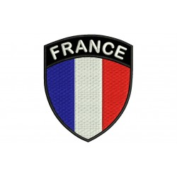 FRANCE SHIELD Embroidered Patch