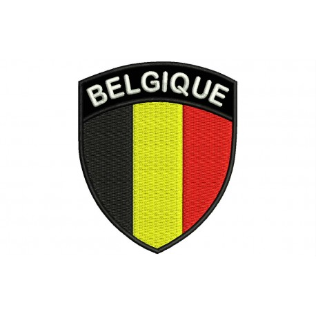BELGIUM SHIELD Embroiderd Patch