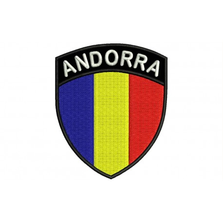 ANDORRA SHIELD Embroidered Patch
