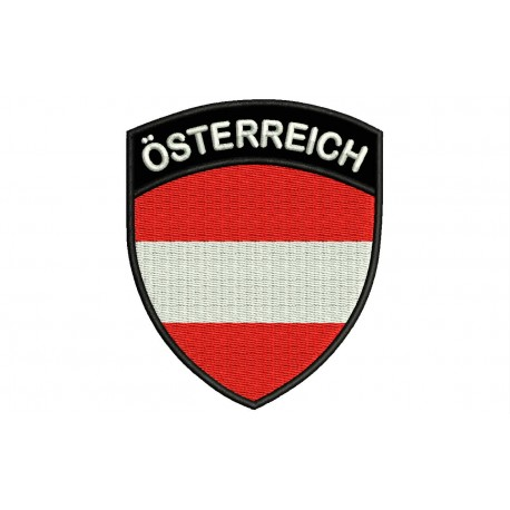 AUSTRIA SHIELD Embroidered Patch