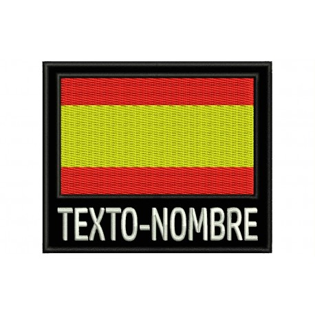 Flag with Name Custom Embroidered Patch