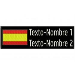 Parche Bordado BANDERA y TEXTOS (Personalizable)