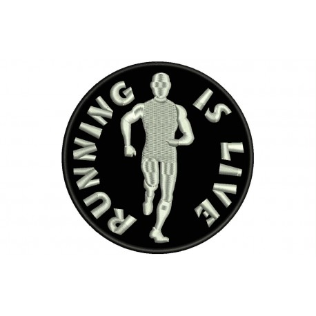 RUNNING IS LIVE Embroidered Patch