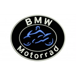 Parche Bordado BMW MOTORRAD (Diseño Ovalado)