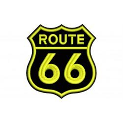 Parche Bordado ROUTE 66 (Bordado AMARILLO)