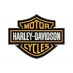 HARLEY DAVIDSON Motor Cycles (Bordado Naranja)