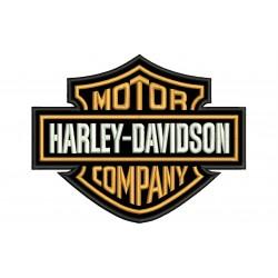 Parche Bordado HARLEY DAVIDSON Motor Company (Bordado Naranja)