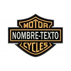 Parche Bordado HARLEY DAVIDSON Motor Cycles (Personalizable)