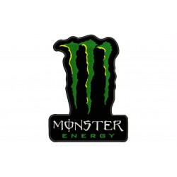 MONSTER ENERGY Embroidered Patch (BLACK Background)