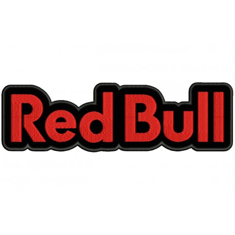 RED BULL Embroidered Patch (BLACK Background)