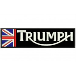TRIUMPH HALF FLAG Embroidered Patch (BLACK Background)