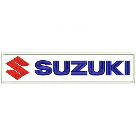 SUZUKI (Horizontal Logo) Embroidered Patch