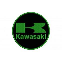 KAWASAKI (Circle Logo) Embroidered Patch