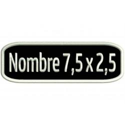 Parche Bordado Personalizable (Bordado BLANCO / Fondo NEGRO)