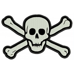PIRATE SKULL AND CROSSBONES Embroidered Patch