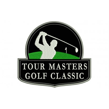 TOUR MASTERS GOLF CLASSIC Embroidered Patch (BLACK Background)