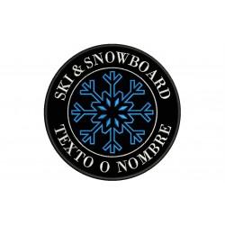 Parche Bordado SKI & SNOWBOARD (Fondo NEGRO)