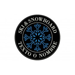 SKI & SNOWBOARD Custom Embroidered Patch