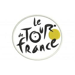 Parche Bordado Le TOUR de FRANCE (Fondo BLANCO)