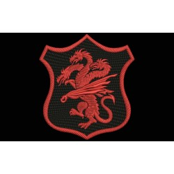 TARGARIEN Shield Embroidered Patch