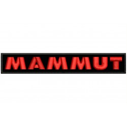 MAMMUT (Letters) Embroidered Patch