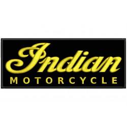 Parche Bordado INDIAN MOTORCYCLE (Bordado ORO / Fondo NEGRO)