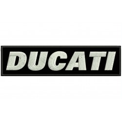 DUCATI LETTERS Embroidered Patch