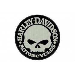 HARLEY-DAVIDSON SKULL (Willie G) Embroidered Patch