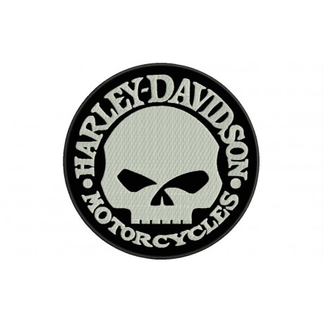 HARLEY-DAVIDSON SKULL (Willie G) Embroidered Patch