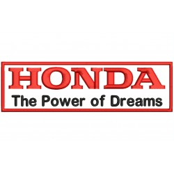 HONDA LETTERS (The Power of Dreams) Embroidered Patch