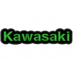 KAWASAKI (Letters) Embroidered Patch