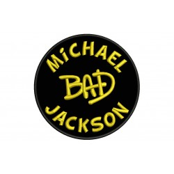 MICHAEL JACKSON (Bad) Embroidered Patch