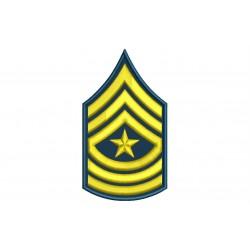 Parche Bordado RANGO SARGENTO MAYOR (US ARMY)