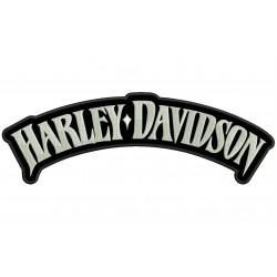 Parche Bordado HARLEY-DAVIDSON LETRAS (Bordado BLANCO / Fondo NEGRO)