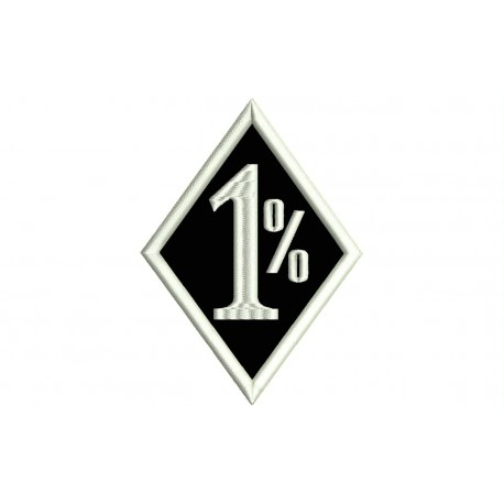 ONE PER CENT Embroidered Patch