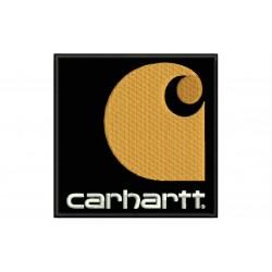 Parche Bordado CARHARTT VERTICAL (Fondo NEGRO)