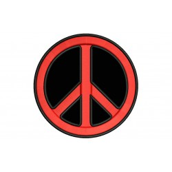 PEACE SYMBOL Embroidered Patch