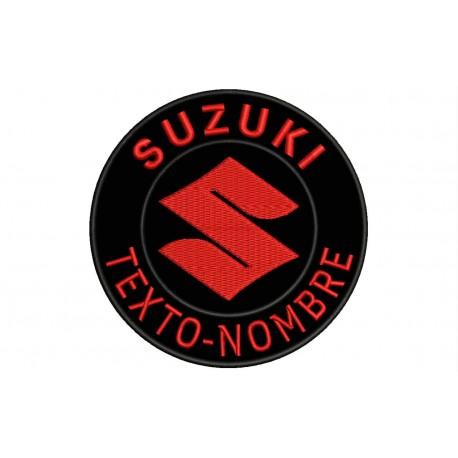Nice item Suzuki design iron on patch Biker item