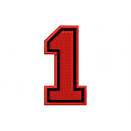 """NUMBER ONE """"1"""" Embroidered Patch"""