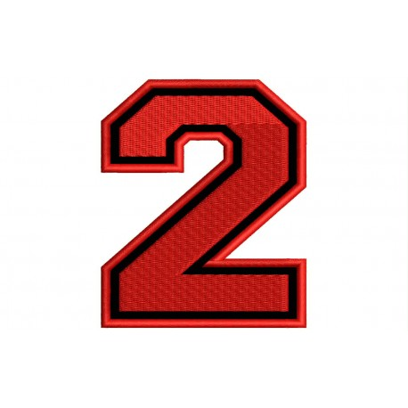 """NUMBER TWO """"2"""" Embroidered Patch"""
