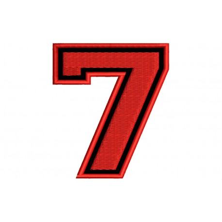 """NUMBER SEVEN """"7"""" Embroidered Patch"""